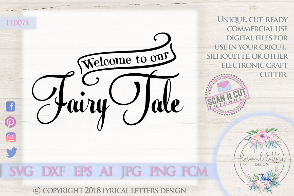 Welcome To Our Fairy Tale Wedding SVG DXF Cut File LL007E example image 1