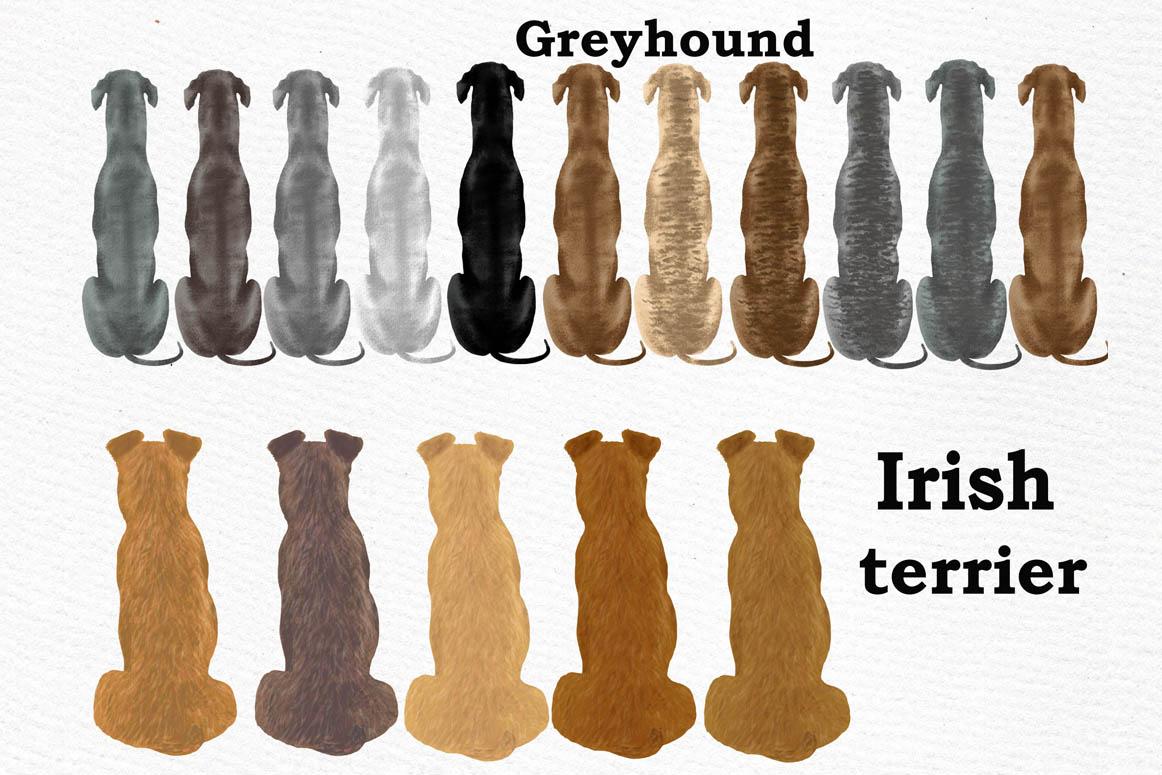 Dog clip art, Watercolor dogs, Maltese Bichon Cane Corso example image 7