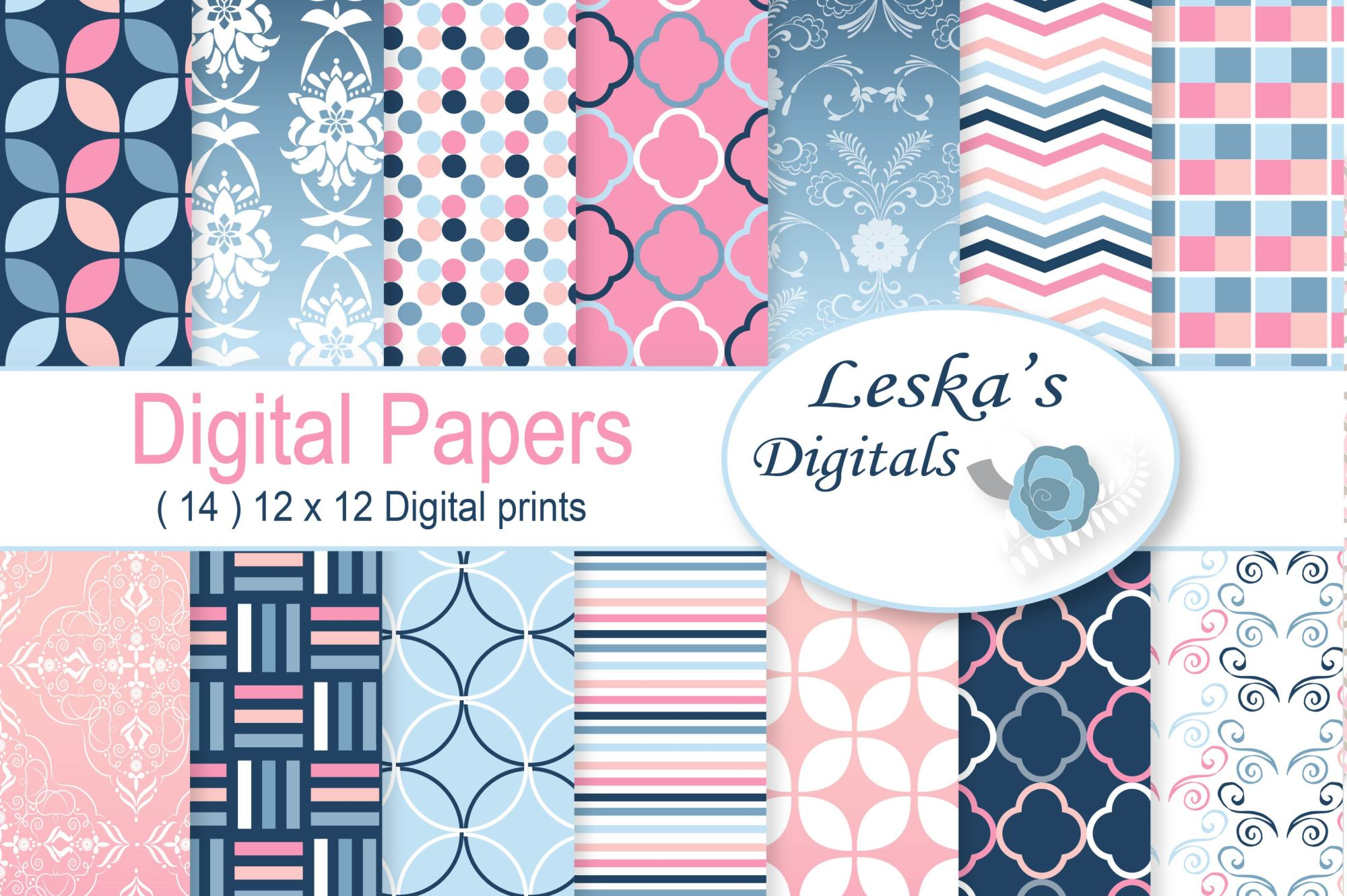 Ombre Digital Paper example image 1