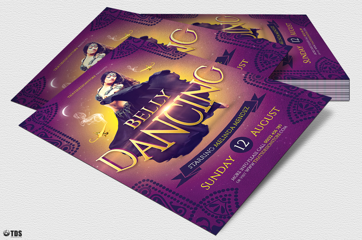 Belly Dancing Flyer Template example image 4