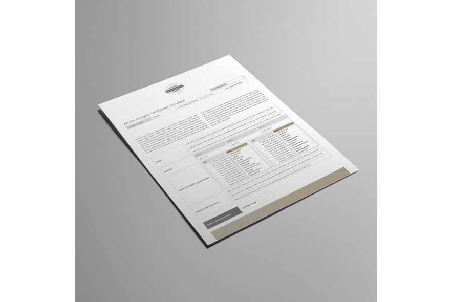 A4 Job Analysis Worksheet Template example image 4