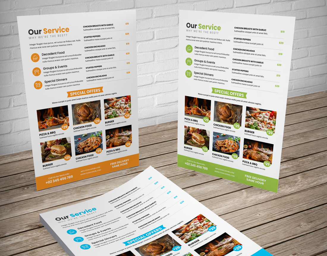 Food Menu Restaurant Brochure Bundle example image 11