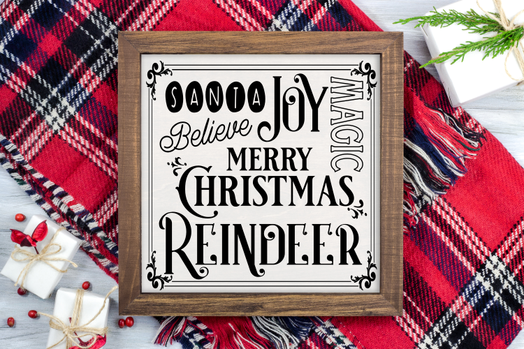 Christmas Subway Design SVG cut file example image 1
