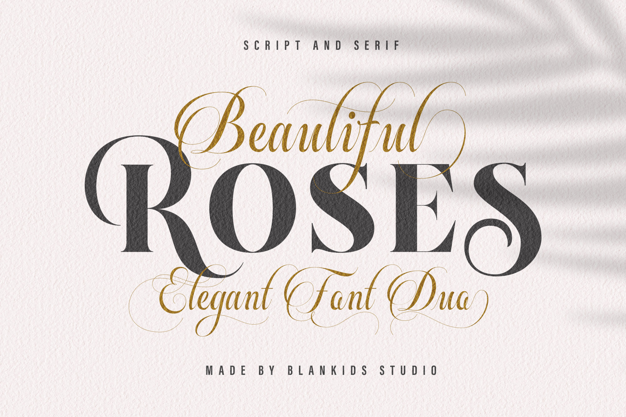 Beautiful Roses Duo Font example image 1