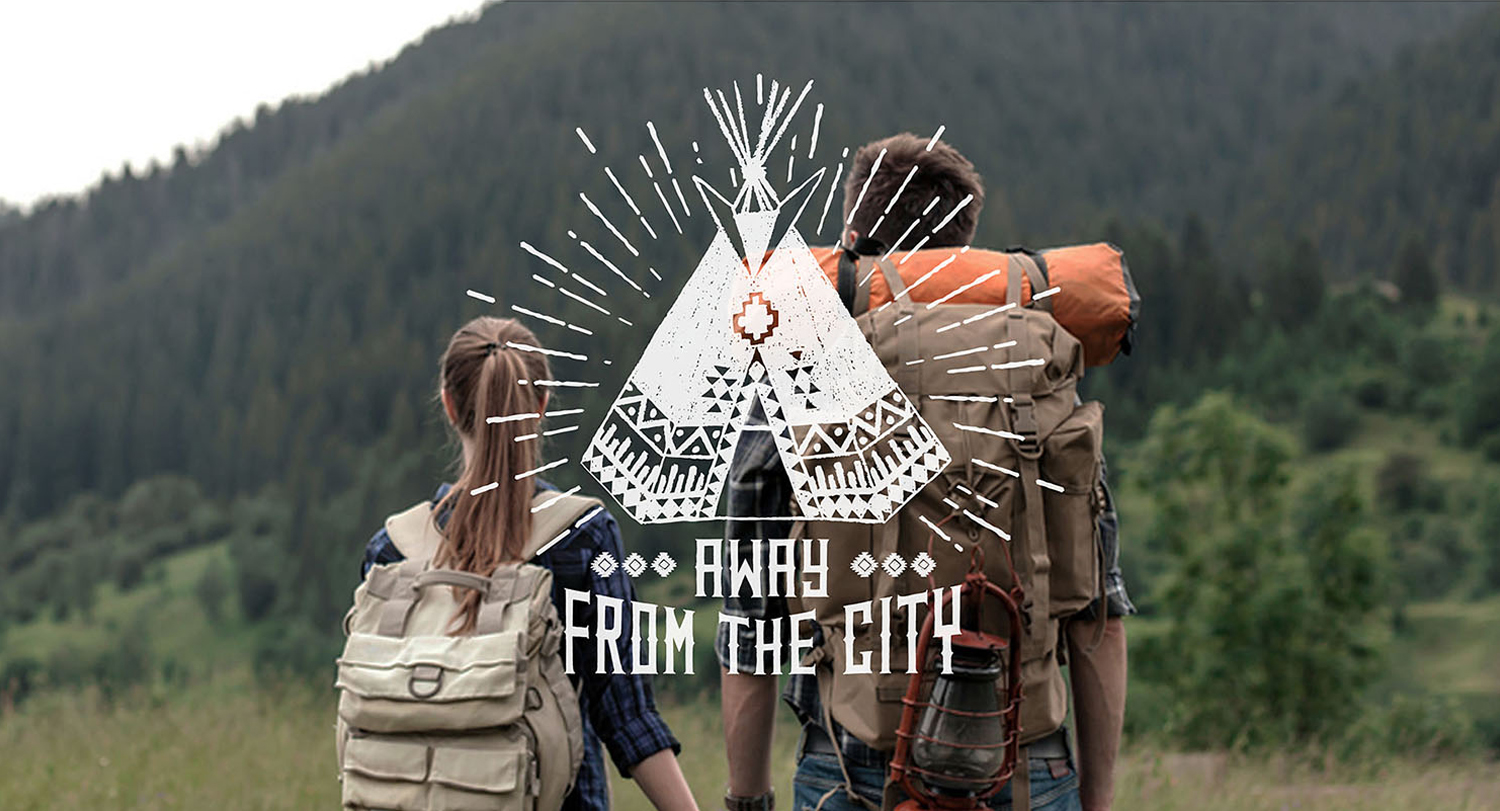 Wild at Heart. Native American Vintage Badges. Vol.2 example image 11