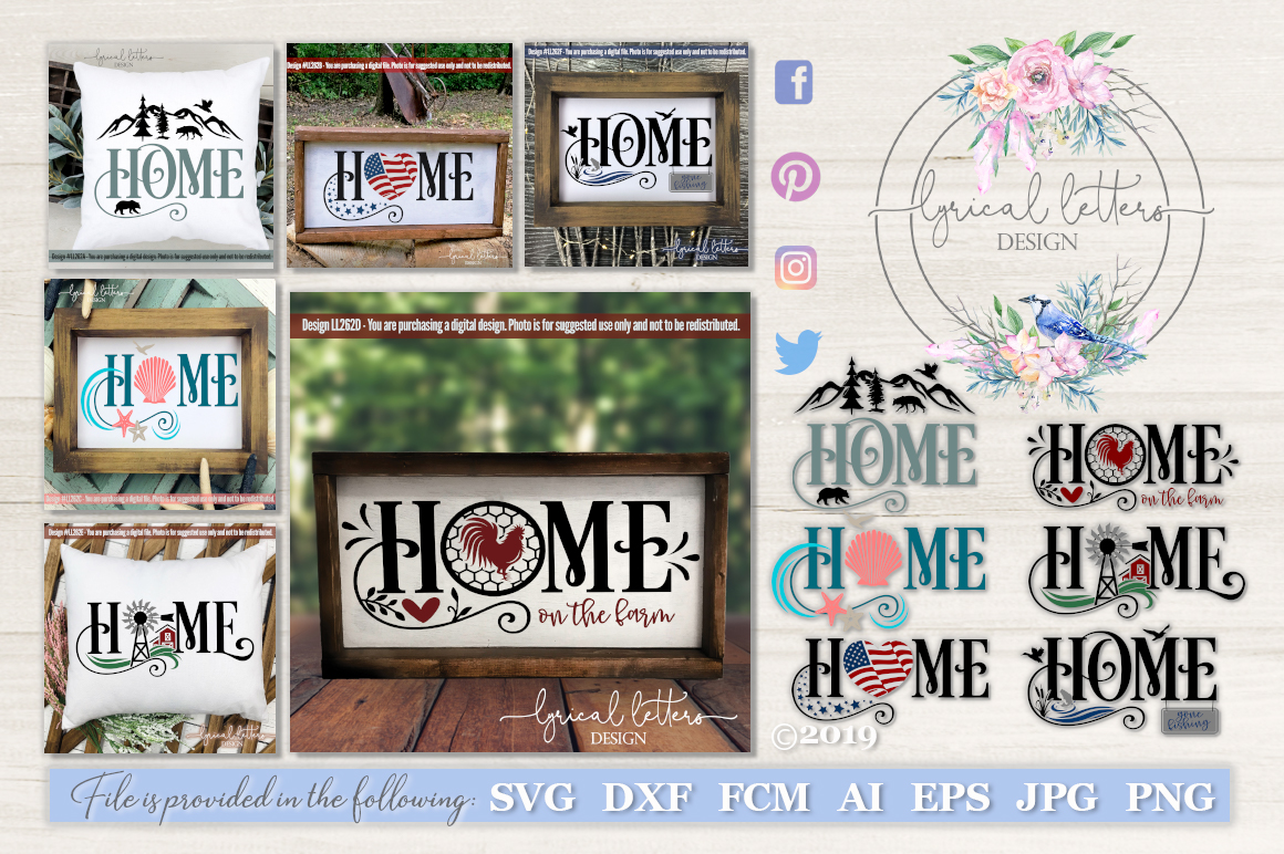 NEW! Home Bundle of 6 SVG Cut Files LL262 example image 1