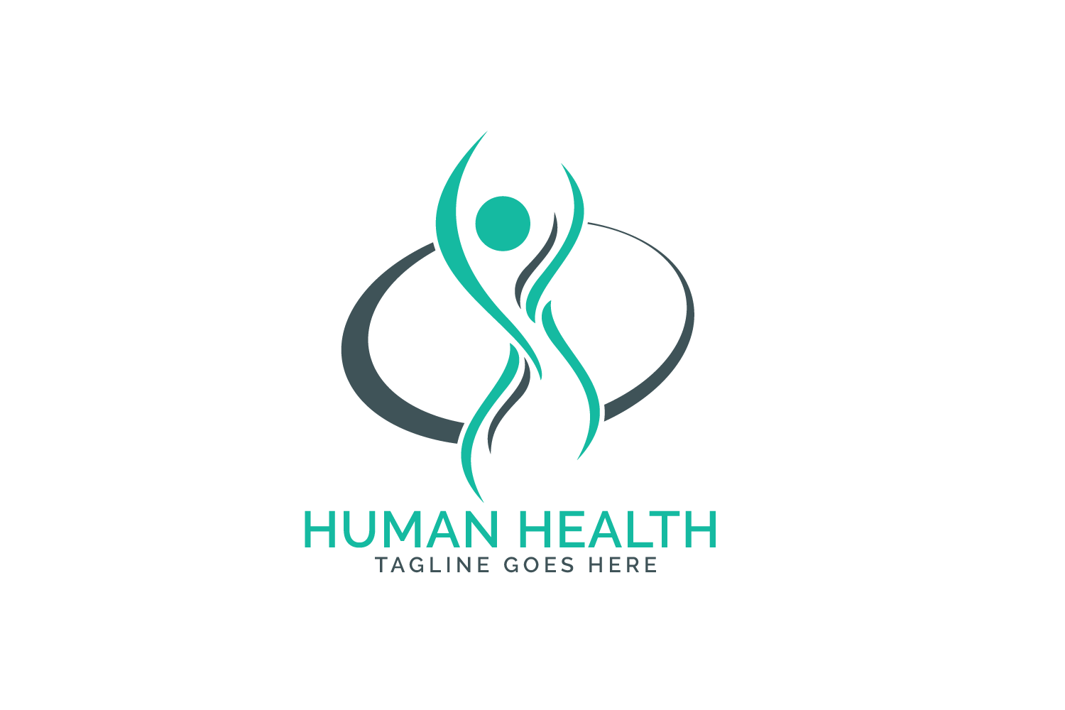 Human health care logo design. example image 2
