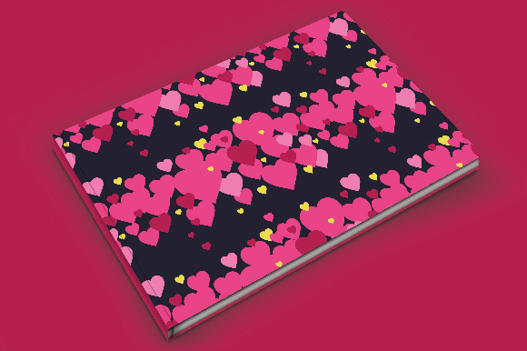 Set of 12 backgrounds with Hearts on Valentine's Day. example image 2