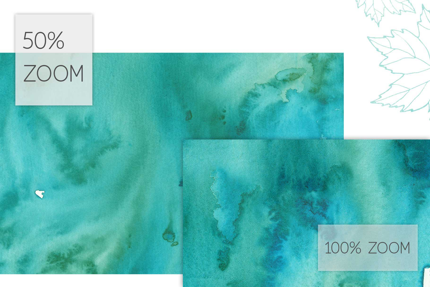 17 Huge Seamless Green Watercolor Textures example image 4