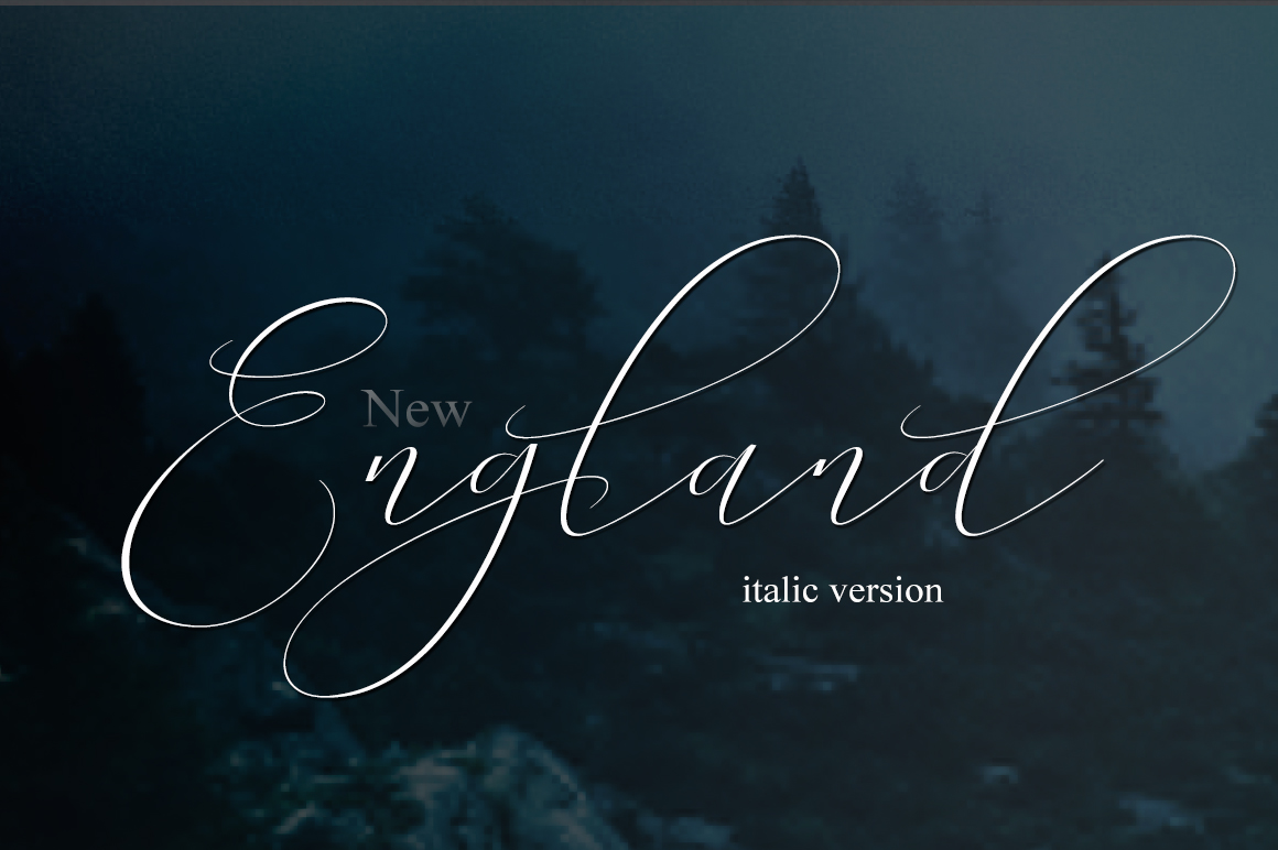 NEW England Script example image 11