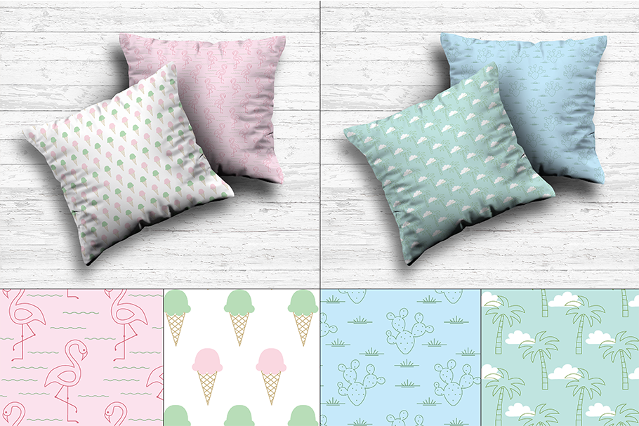 Pastel 80's Seamless Patterns example image 2