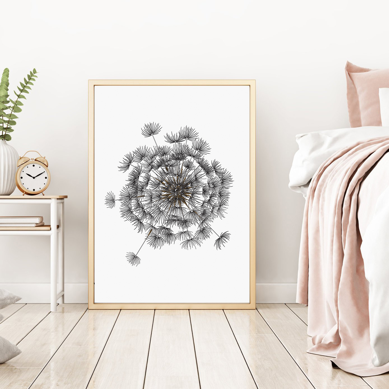 Dandelion Wall Art Large, Printable Digital Download example image 2