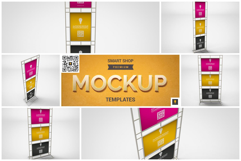 Poster Stand Display Mockup example image 1