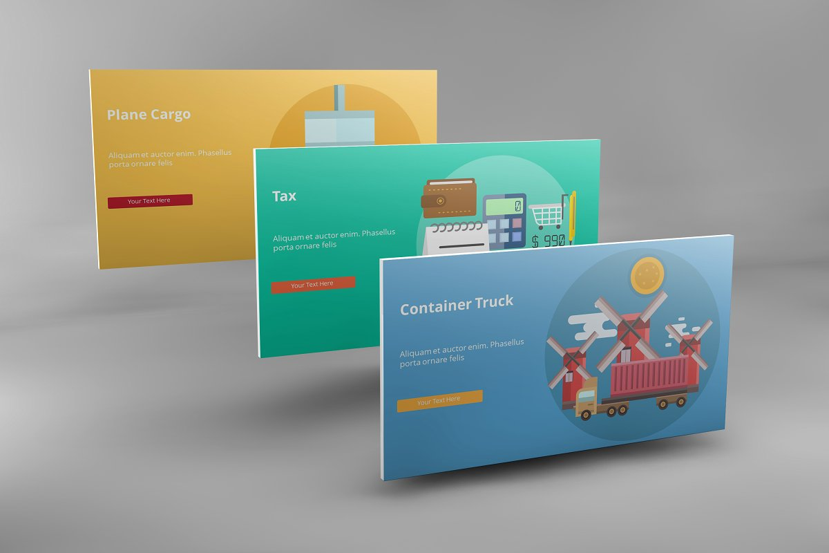 Visual Business Keynote Template example image 7
