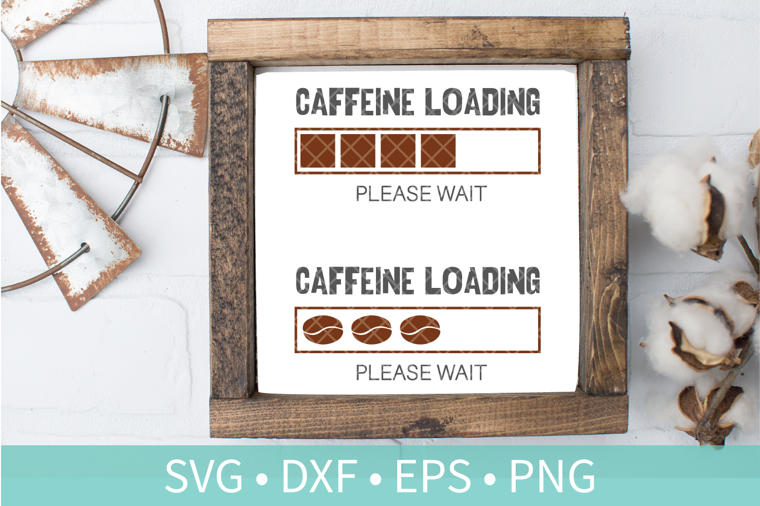 Loading Caffeine SVG - Funny Coffee Quote SVG DXF PNG EPS example image 1