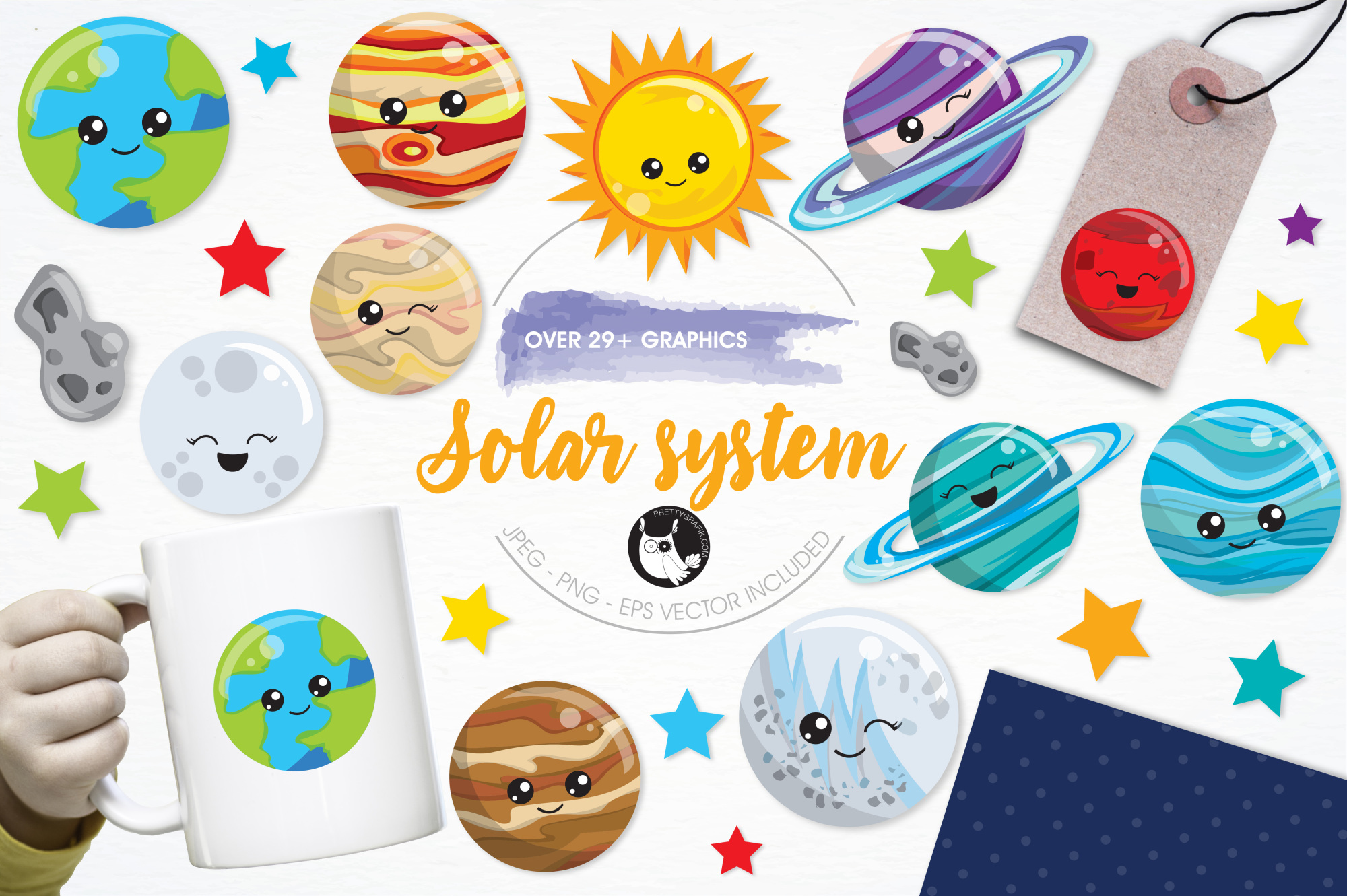 Solar System  graphics and illustrations example image 1