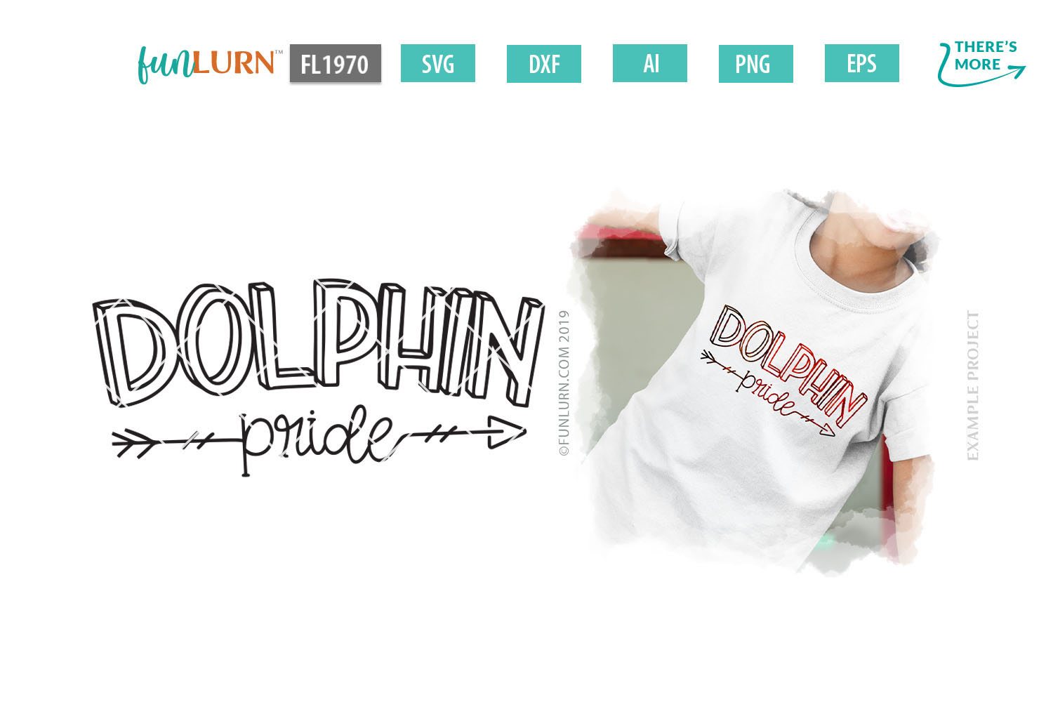Dolphin Pride Team SVG Cut File example image 1
