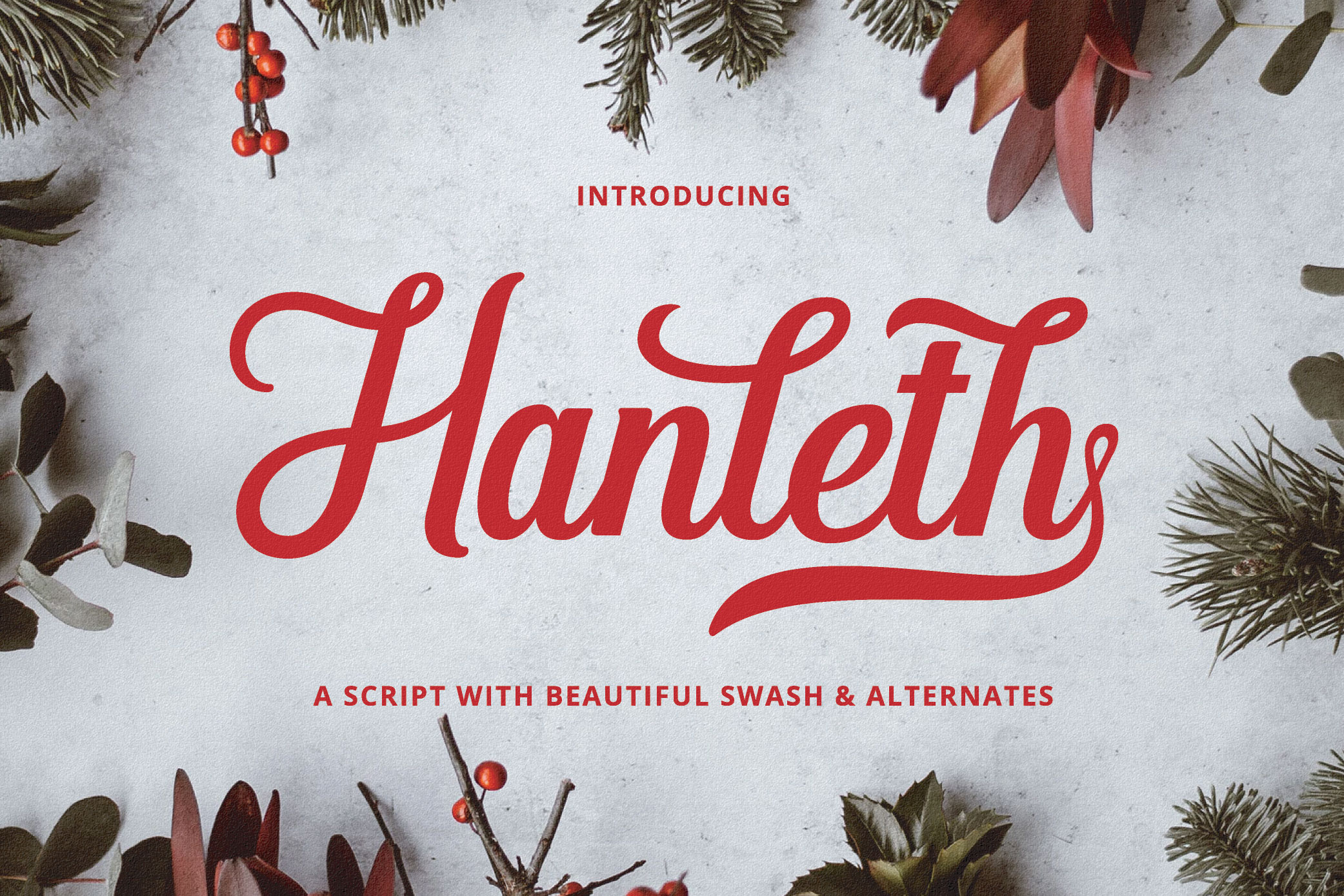 Hanleth Beautiful Script example image 1
