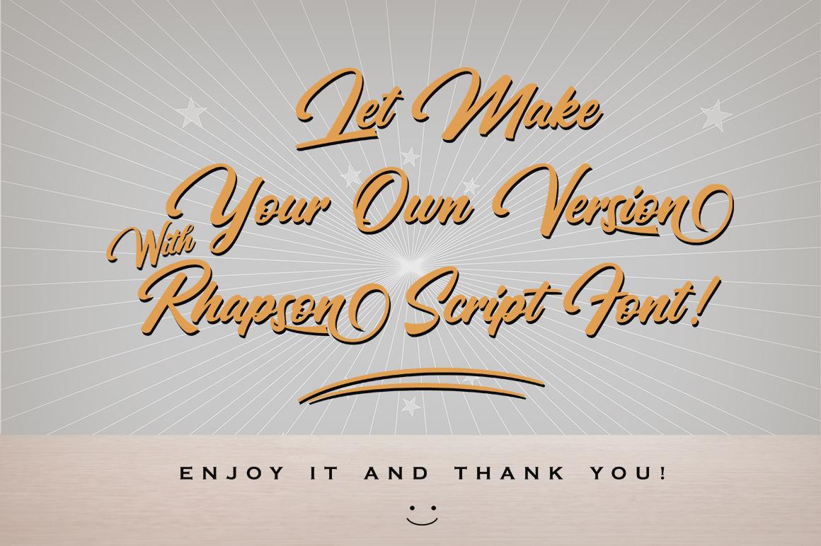 Rhapson Script Font example image 2
