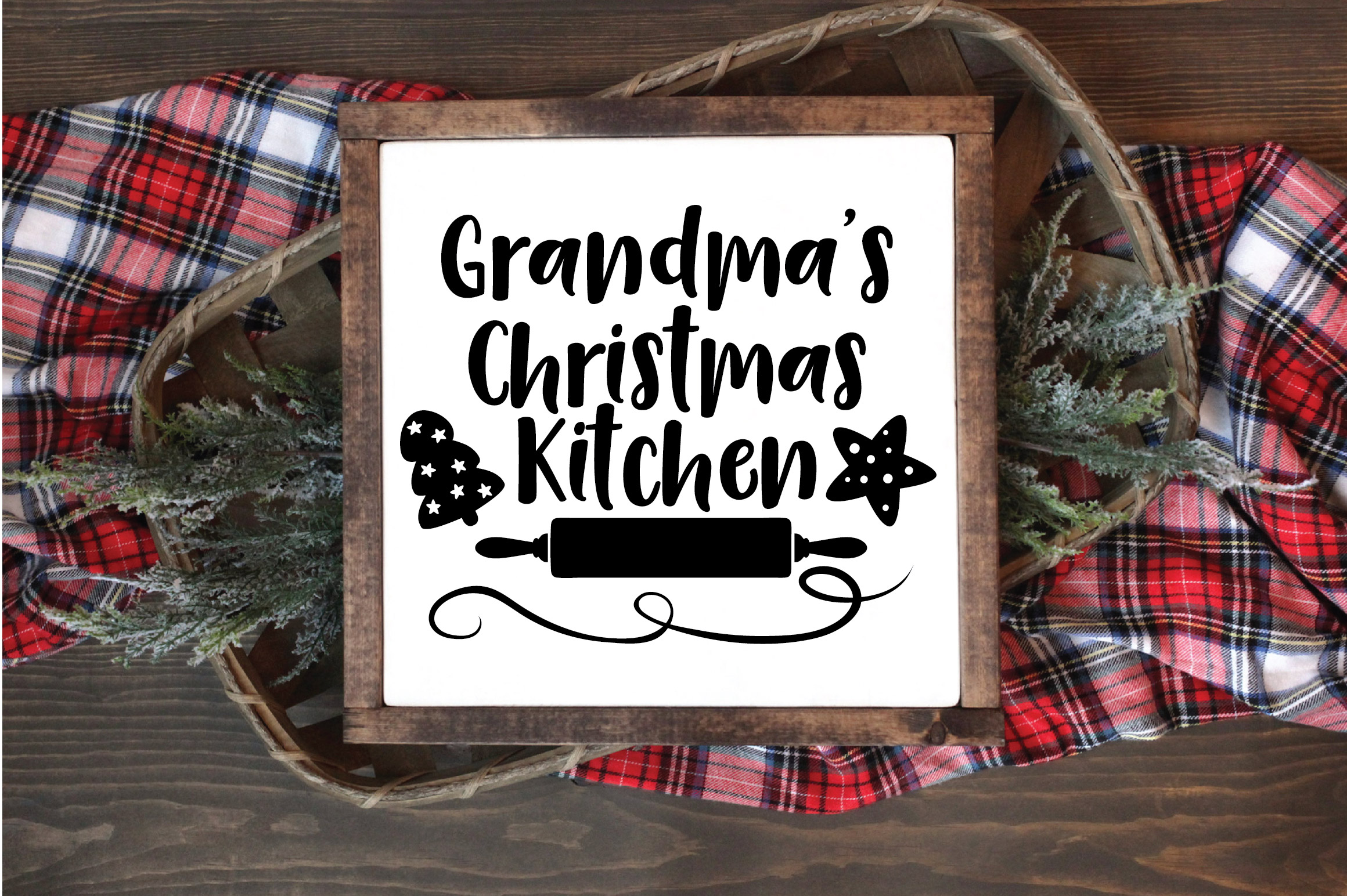 Christmas SVG Cut File - Grandma's Kitchen SVG DXF PNG EPS example image 4