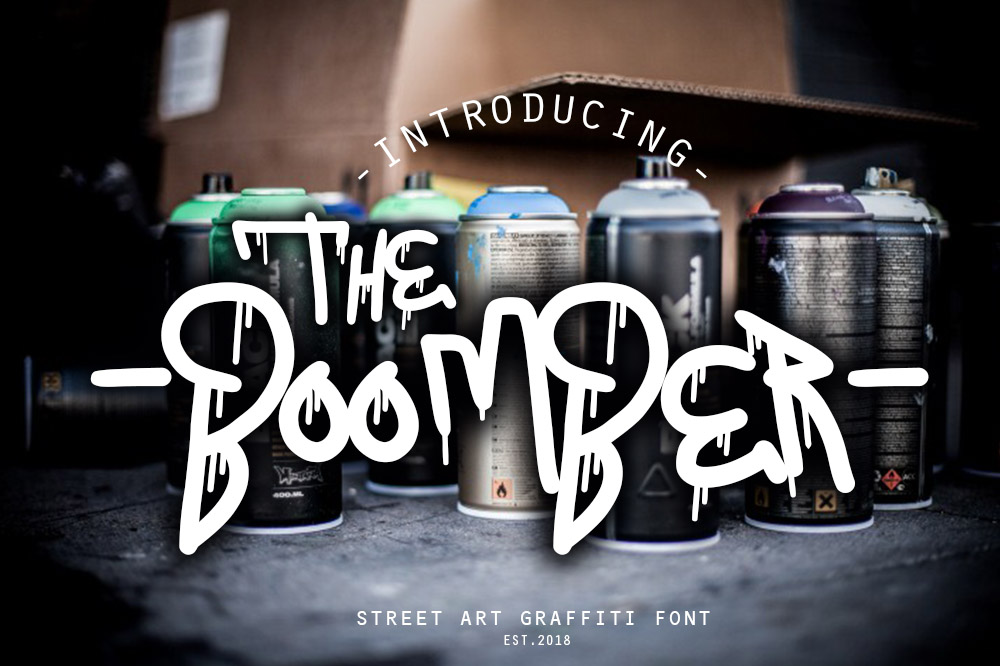 THE BOOMBER GRAFFITI FONT example image 2