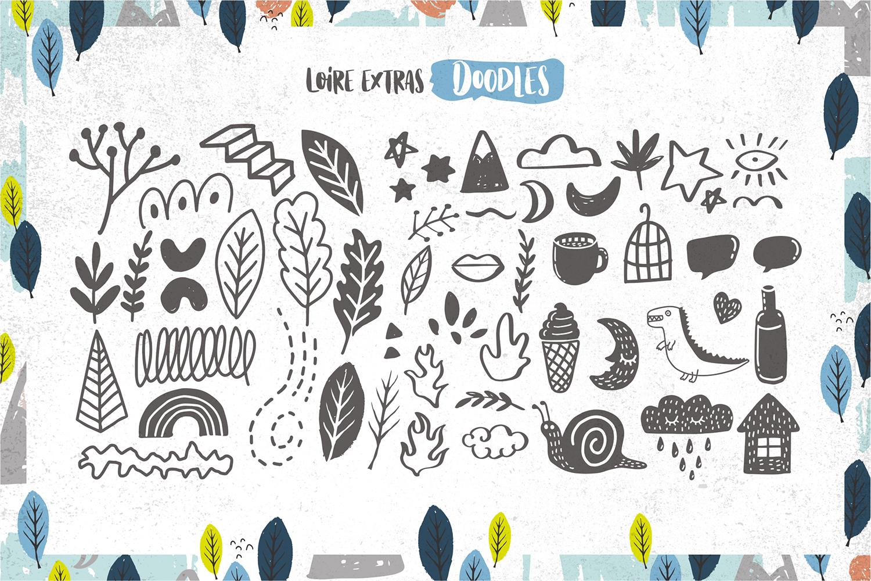 Loire Font Pack & Graphic Bundle example image 12