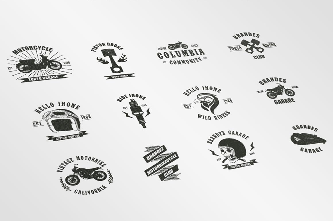 Vintage Badges Motorcycle example image 6