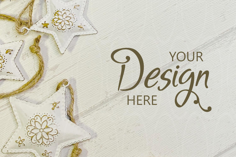 Flatlay Styled stock photography Christmas background mockup example image 1