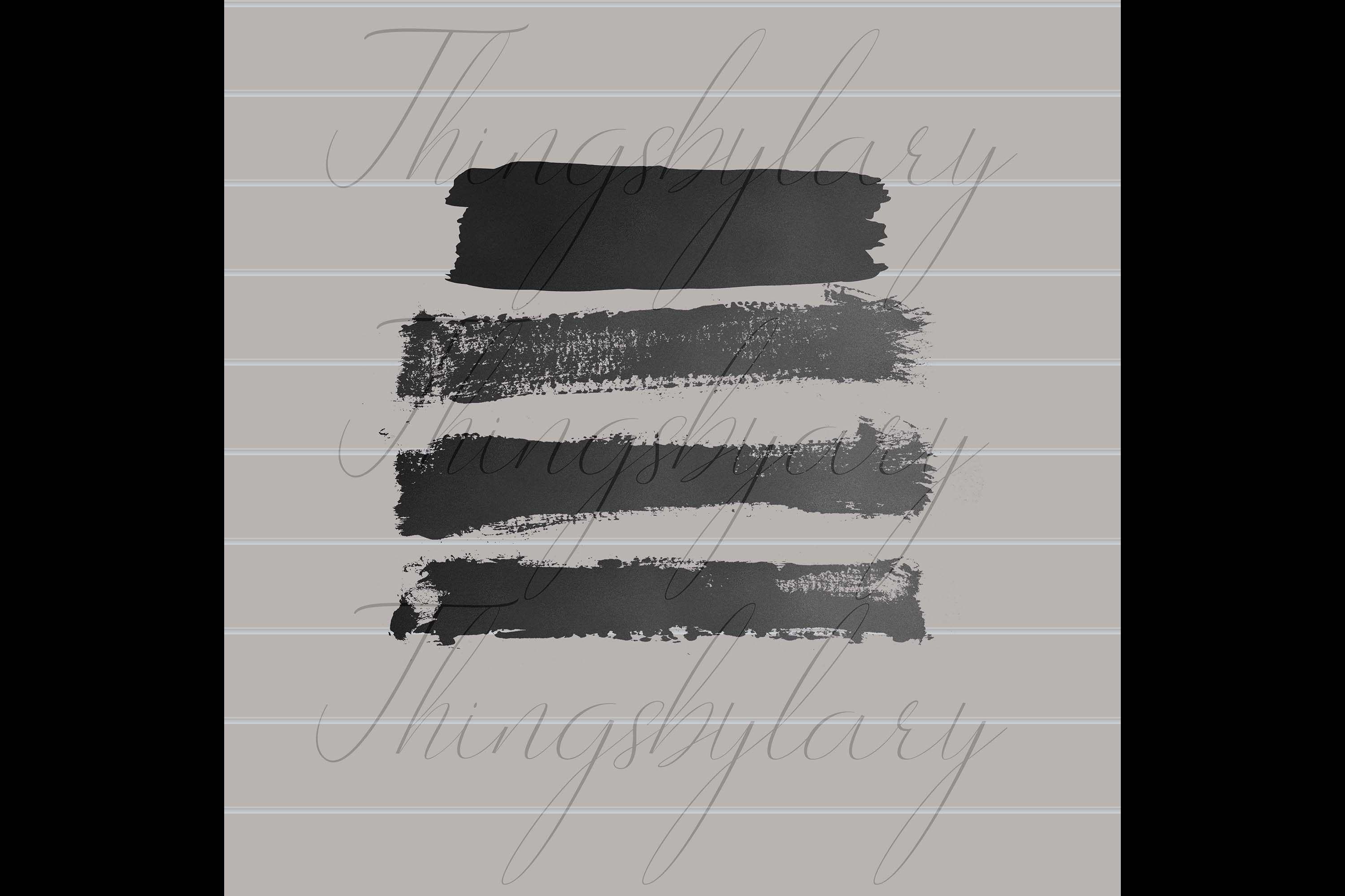 33 Gold Glitter and Black Hand Drawn Brush Strokes Images example image 6