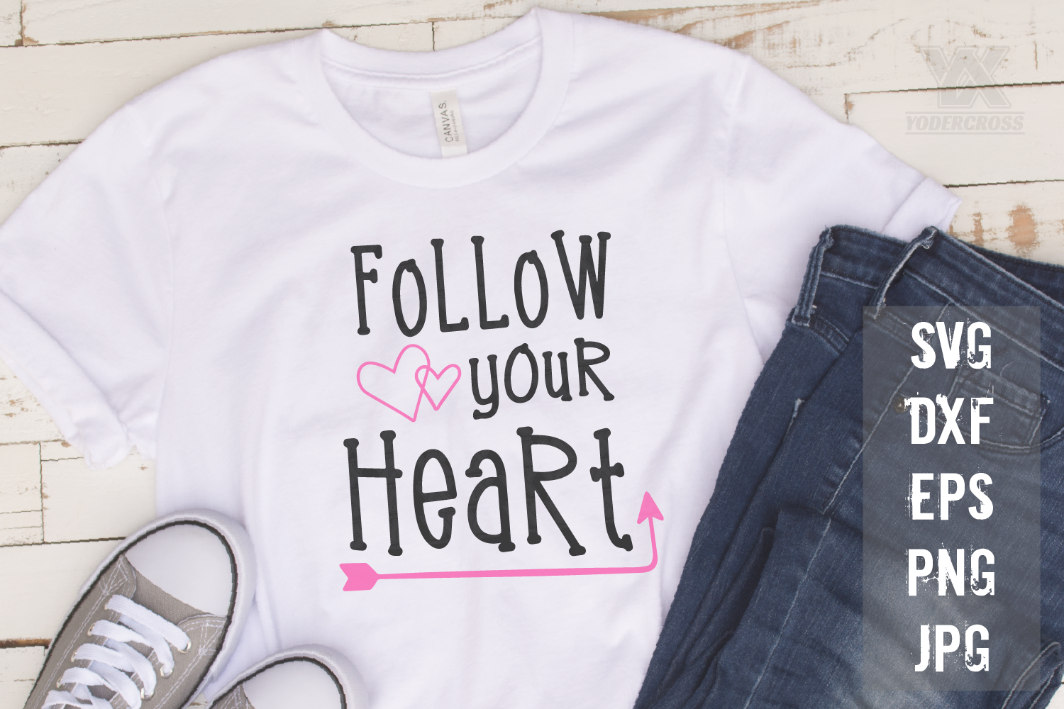 Follow Your Heart SVG example image 1