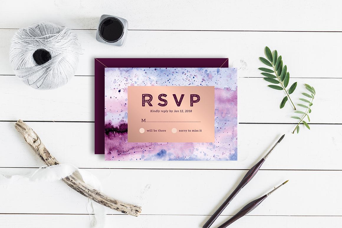 Royal - Wedding Invitation & RSVP example image 2