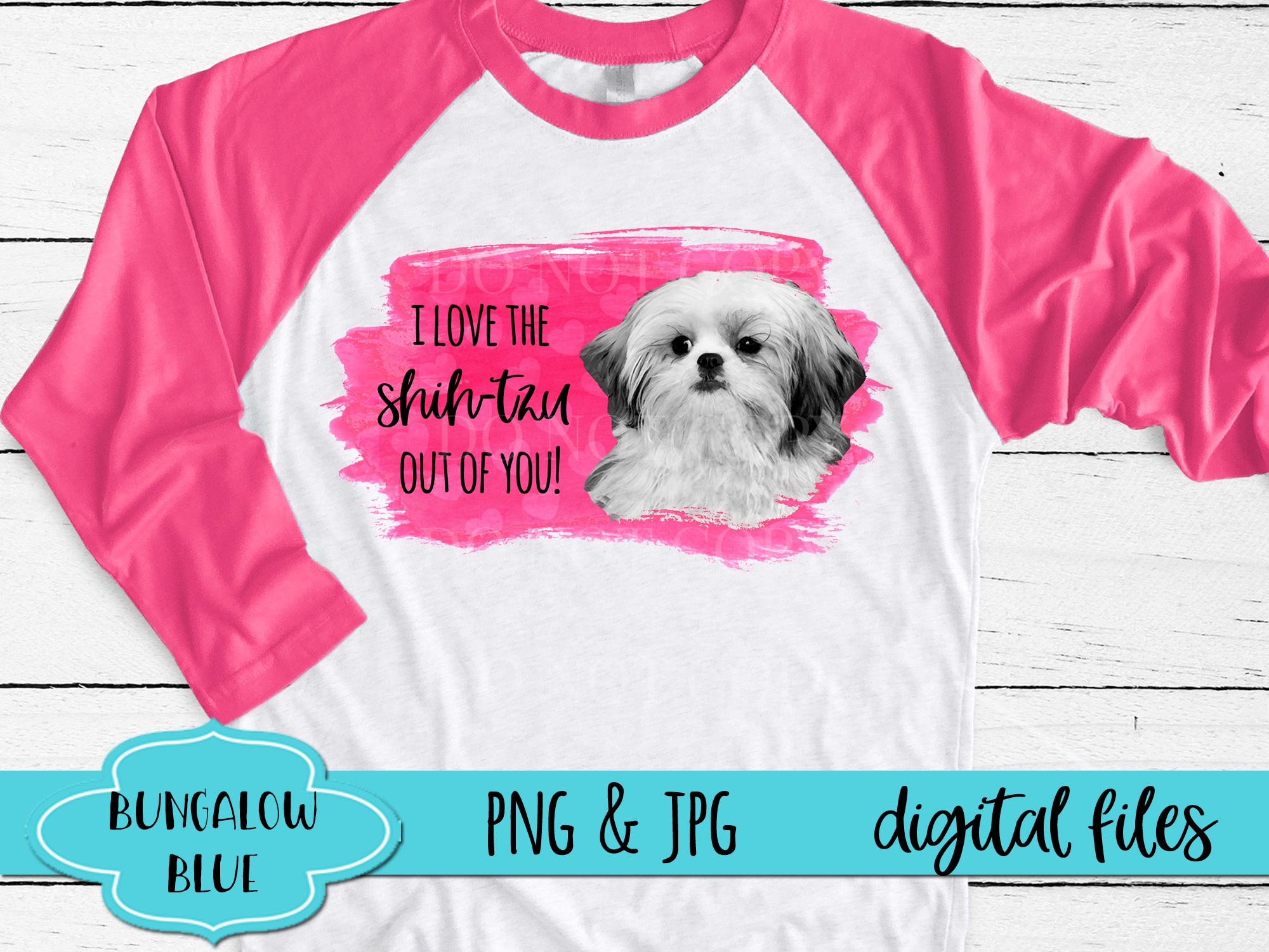 I Love The Shih Tzu Out of You Funny Valentine Download example image 2