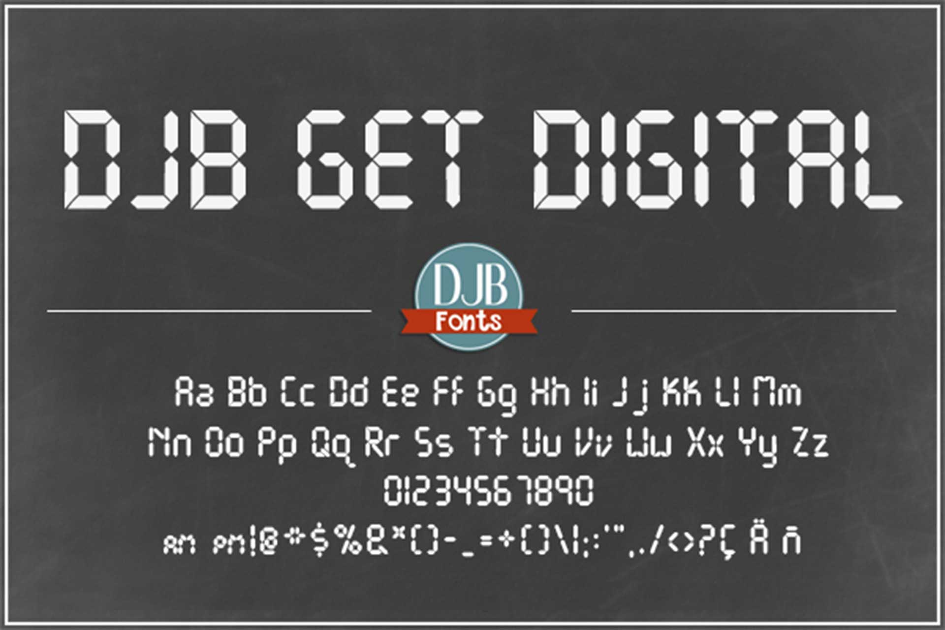 Scoreboard Font Pack example image 2