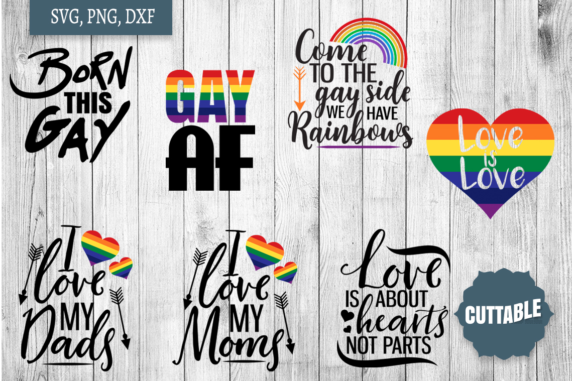 Gay pride SVG Bundle, gay sayings svg, gay quote cut files example image 3
