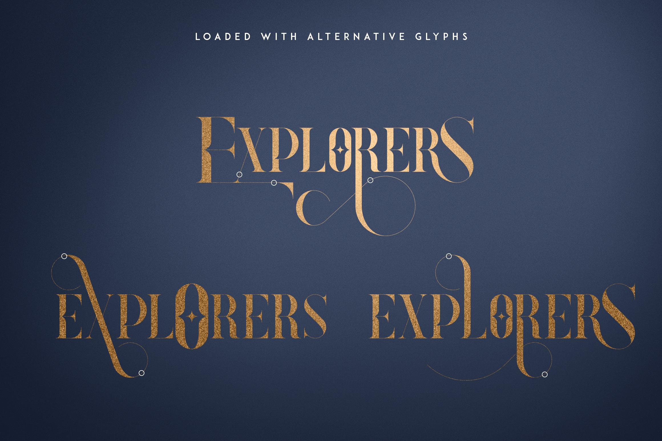 Explorers - Serif font Extras