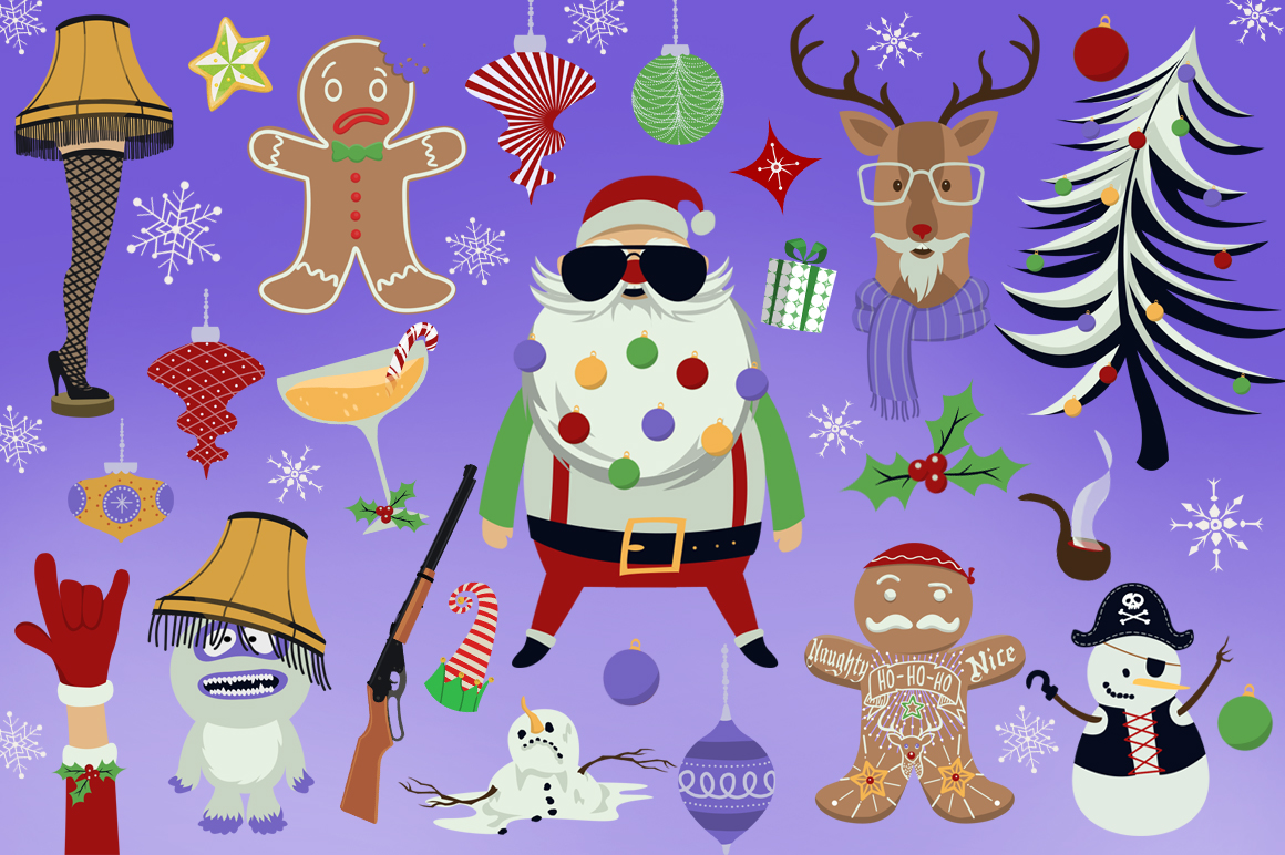 Wild Christmas Clip Art Collection example image 2