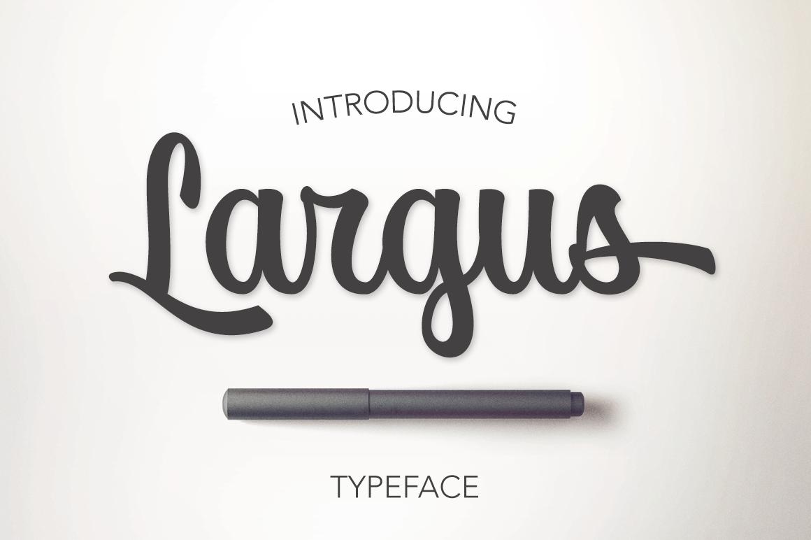 Largus Typeface example image 1