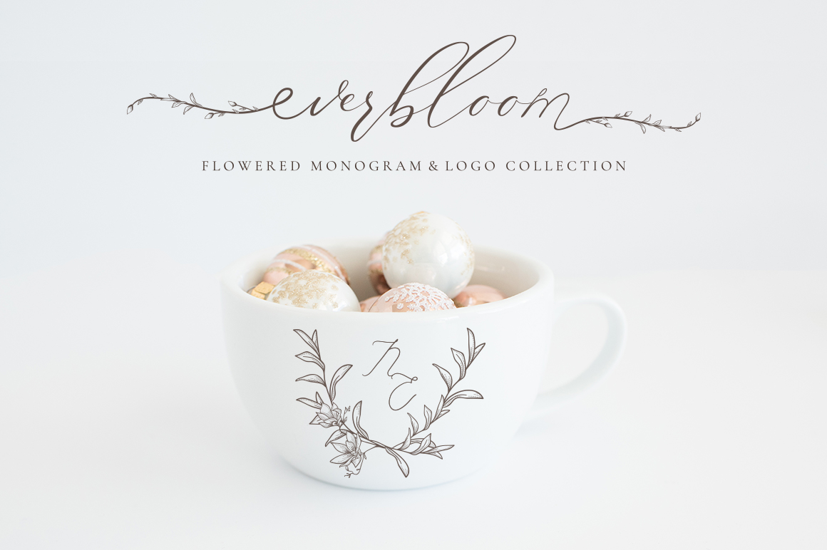 Flowered Monogram & Logo Collection example image 17