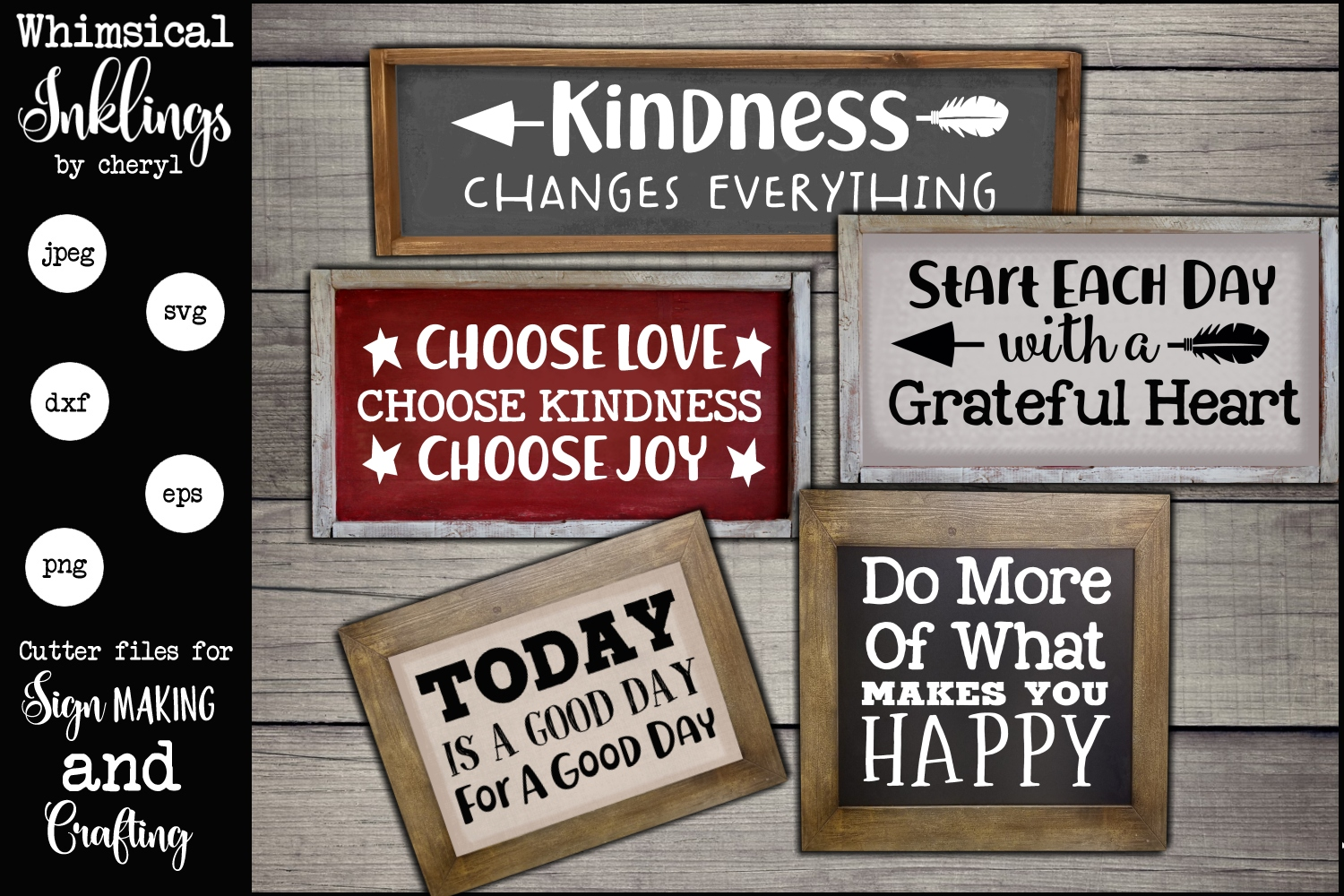 Kindness Changes Everything SVG set example image 1