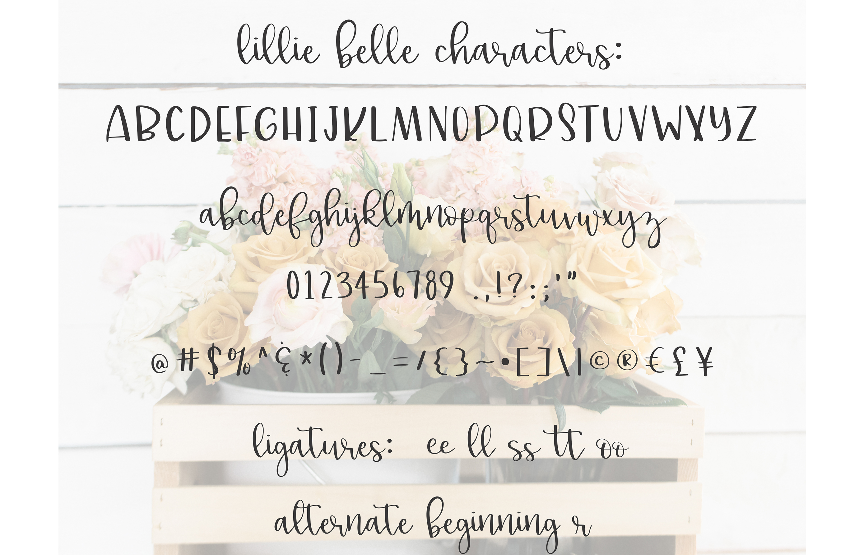lillie belle font example image 5