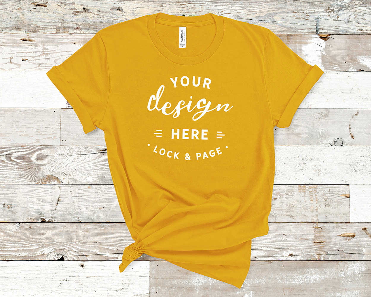 Bella Canvas 3001 Mockup T-Shirt Bundle All Colors On Wood example image 6