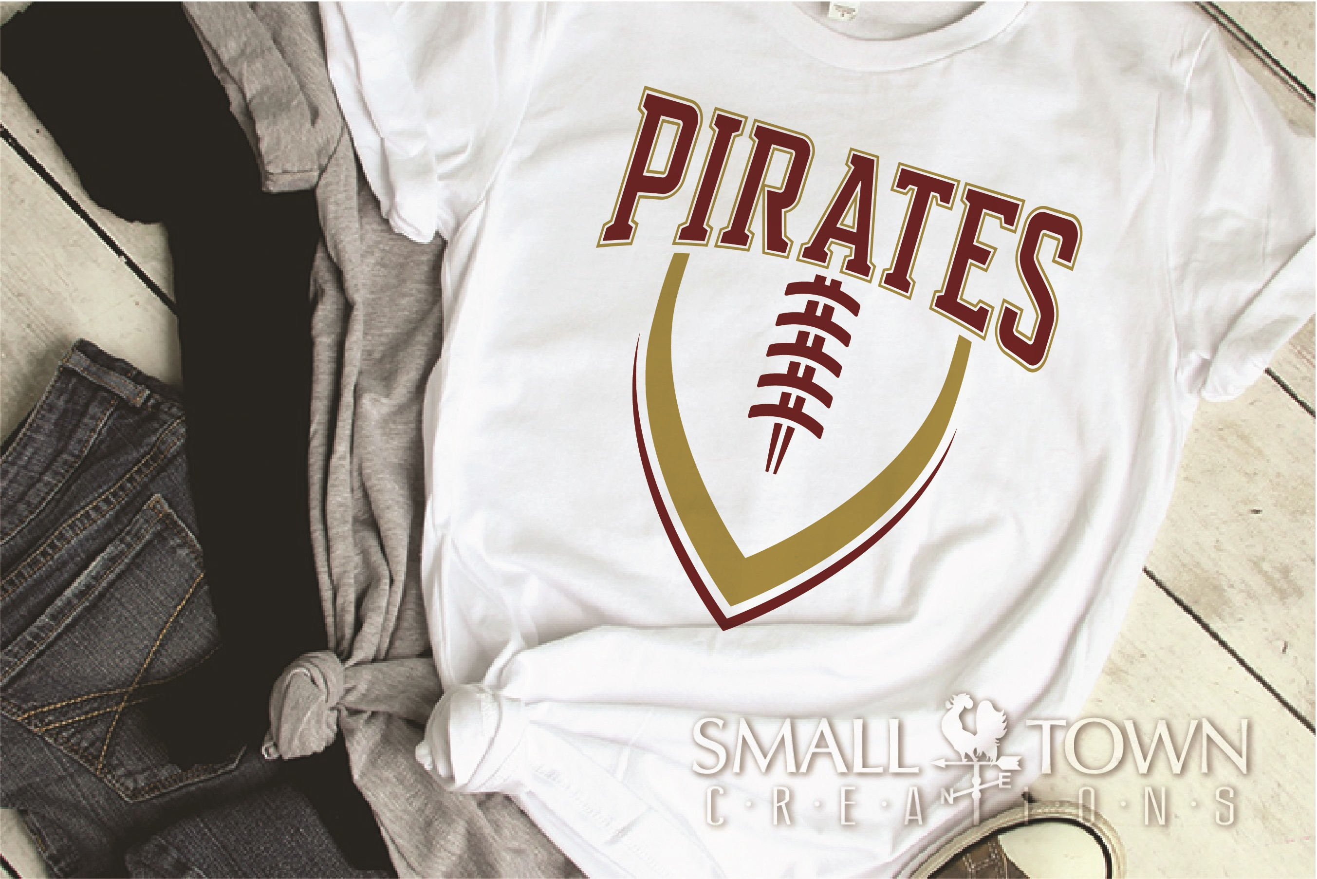 Pirate, Football, Sports, Design, Logo, PRINT, CUT, DESIGN example image 2