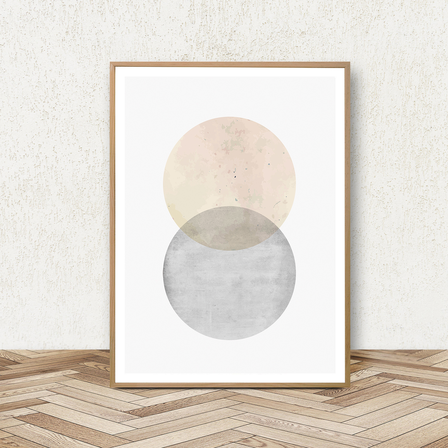Geometric Wall Art, Set of 3 Prints, Pink and Grey Wall Art example image 4