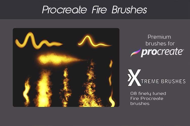 Procreate Fire Brushes! example image 3