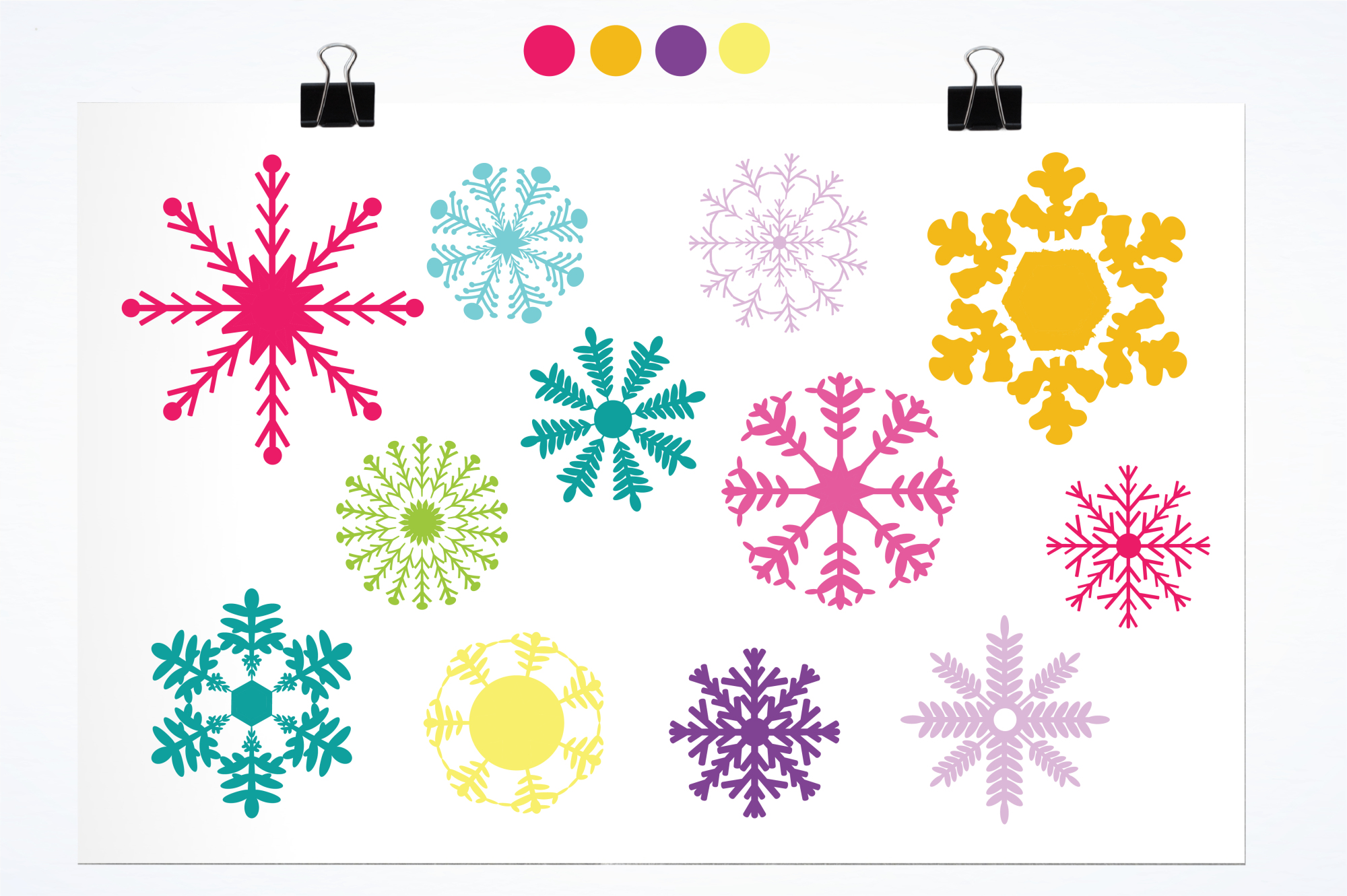 Snowflakes Icons graphics and illustrations example image 2