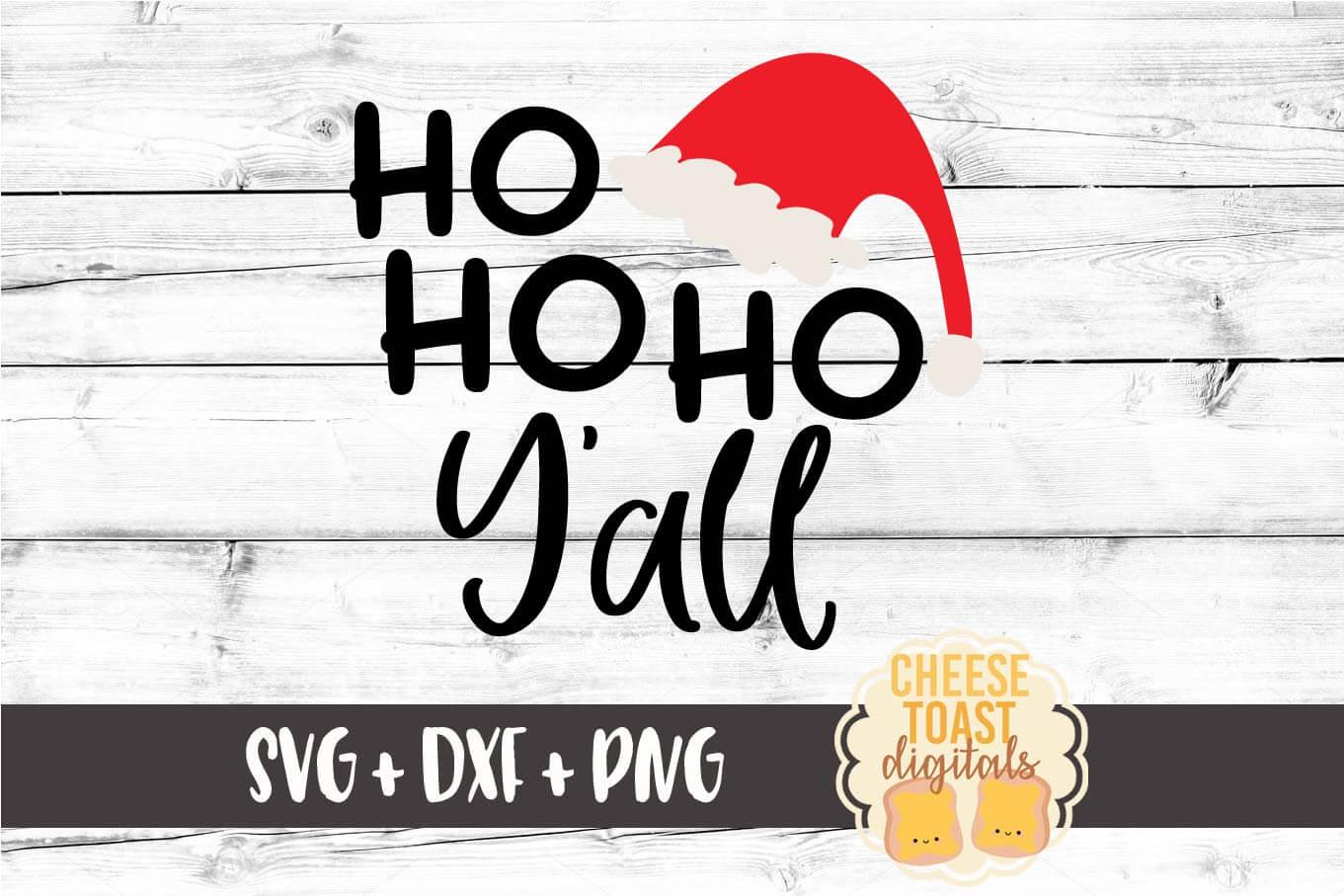 Ho Ho Ho Y'all - Christmas SVG Files example image 2