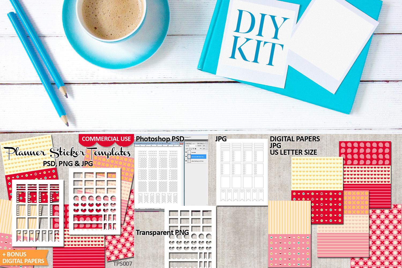 Planner Stickers Templates Bundle Vol. 3 - Digital Kit example image 2