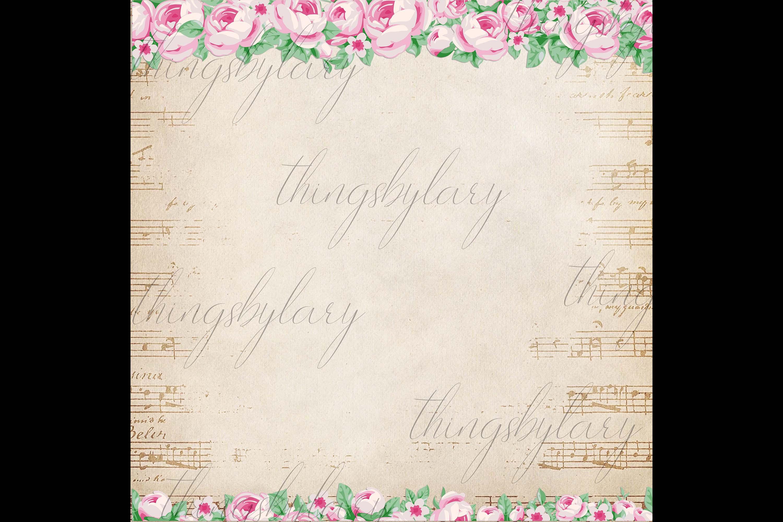 82 Romantic Pink Peony Clip Art Peony Border Bouquet Garden example image 2