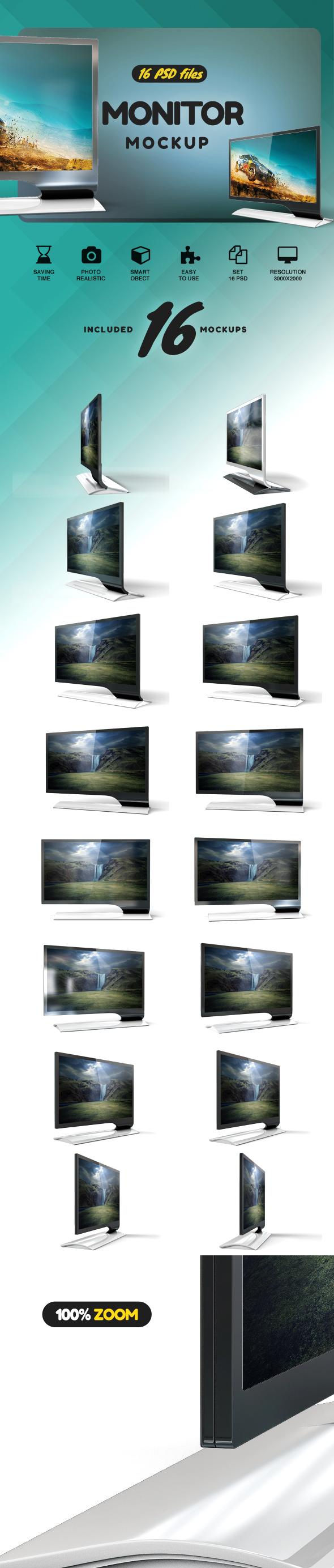 LED Monitor Mockup example image 2