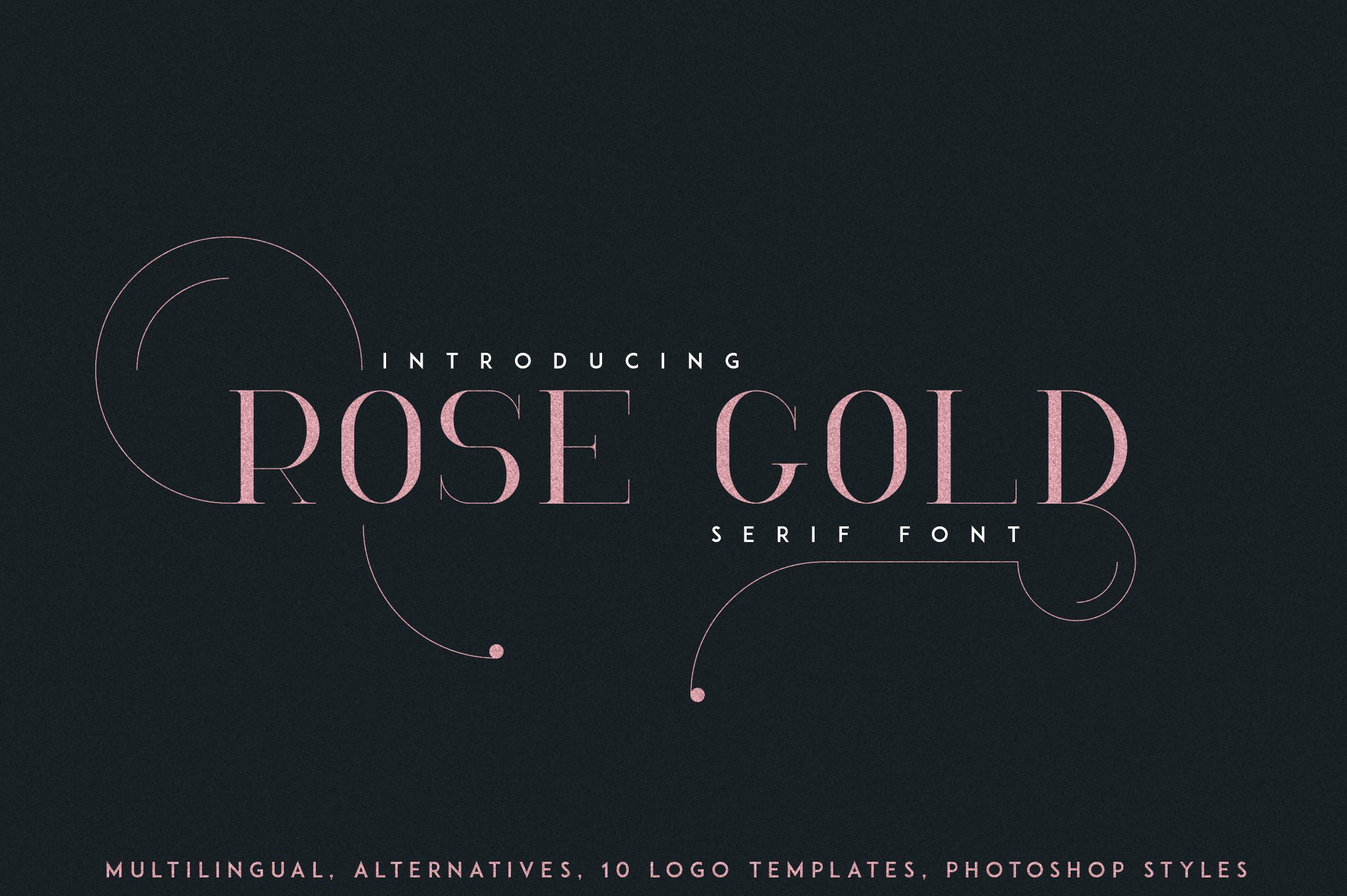 RoseGold Serif font 10 Logos example image 1